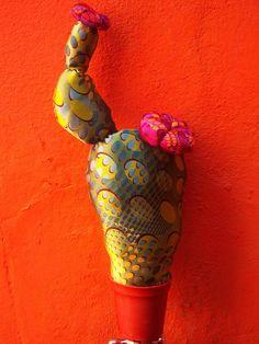 cactus de tela la chio mis cosita, cactus de, de tela, cactus tela, cactus nonprick, fabric plant