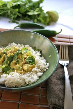 Coconut Lime Chicken (minus the rice)