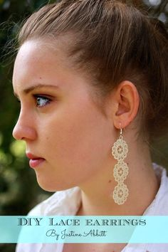 DIY earrings made with lace