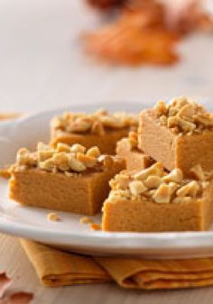 Peanut Butter Fudge Bites – Butterscotch pudding and a sprinkling of chopped peanuts give these Peanut Butter Fudge Bites their moist and nutty appeal.