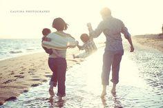Cute angle of a family beach shoot!