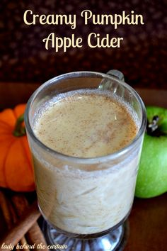 Creamy Pumpkin Apple Cider is the prefect fall drink and can be served hot or cold!