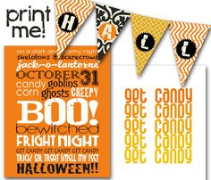 bigredclifford.com // free halloween printables! #banner #subway