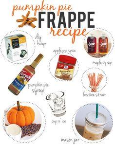 Pumpkin Pie Frappe Recipe. Oh YUM!