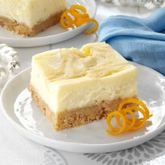 Orange-Swirled Cheesecake Bars