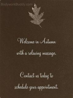 Autumn massage