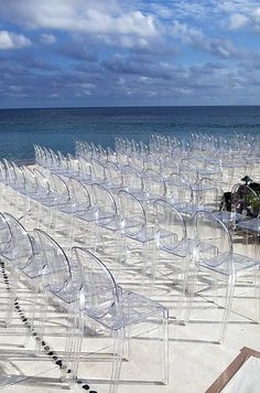 Love these mirage chairs, so perfect for beach wedding
