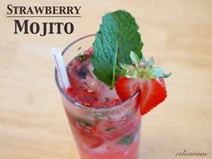 Strawberry Mojito - tall, cool, refreshing.