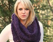 Fuchsia Pink  Chunky Cowl Scarf Snood / Autumn / Winter Fashion Accessories. $45.00, via Etsy.