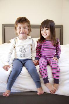Dark Pink/Taupe Long Sleeves Pajamas $39