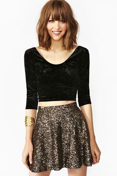 Coven Crop Top & Sparkel Skirt