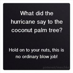 What did the hurricane say...