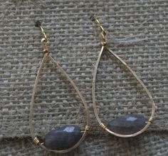 Labradorite Loops - Designed by my amazingly talented friend Kristin Meredith!