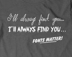 Funny Typography T-S