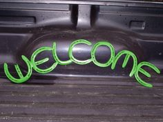 Welding Projects -- horseshoe WELCOME sign