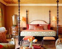color and landscape of Morocco. Bedroom decor