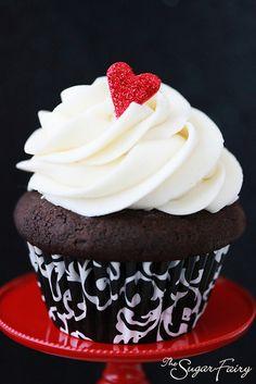 Black, White & Red Cupcakes