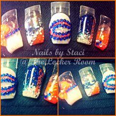 Chicago Bears Football Nails Design