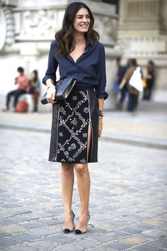 Repin Via: Monika Reynolds black & navy #timelesschic
