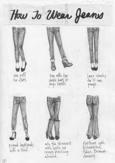 How to wear Jeans with different shoes!