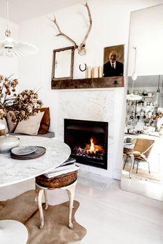 antler, fireplac, interior photography, mantl