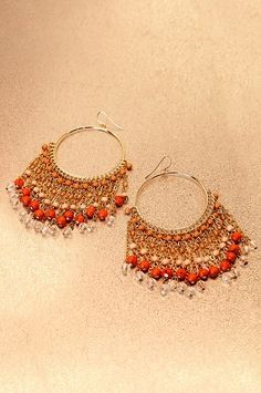 Boston Proper Beaded fringe earrings #bostonproper