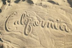 California in the sand