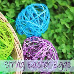 String Easter Eggs Craft