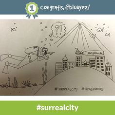 Congrats to @blu3yez - the #surrealcity Daily Doodle Challenge winner of 500 SB for 9.12.14!
