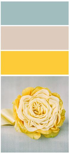 Color palette blues/grey/yellow