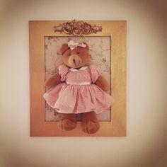 Quadro de ursinho para o quarto do bebê (feito em casa!)