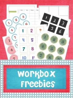 Simblissity: Day #5: Organizing with Workboxes (with free printables)
