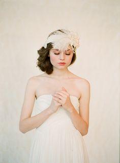 Flapper inspired bridal headban
