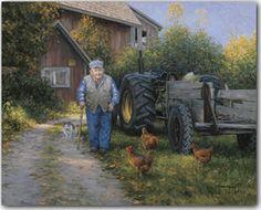 Mr. Churchill's Farm Art Print    by Robert Duncan