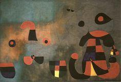 Pintura Mural : Barcelona (1950/51)  1,89 x 5,93 m (total) - Museum of Modern Art, NY-USA (metade direita).