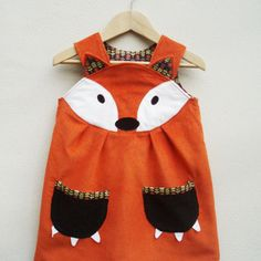 Adorable Fox Dress for the Birthday Girl