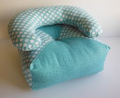 18 inch Doll Chair Fits American Girl  Turquoise by HoleInMyBucket, $15.00