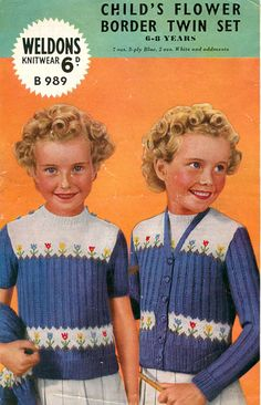 1940's knit garment, vintag knit, knit children, knit pattern