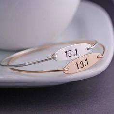 Half Marathon Bracelet Athletic Jewelry Gift for by georgiedesigns