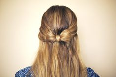 Hair Bow by Steph bow tutorial, diy hair, bow ties, makeup, hairstyle ideas, date nights, hair bows, beauty, blog