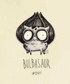 """Los Pokemon dibujados """"a lo Tim Burton"""""""