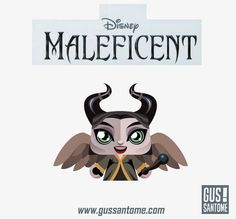 Mini Papercraft: New MALEFICENT! (Classic purple & black version also available at the link)