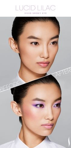 Before & After: COLORVISION Lucid Lilac Vivid Smoky Eye #COLORVISION #LucidLilac #Sephora