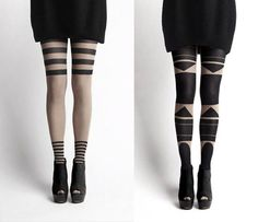 awesome patterned tights