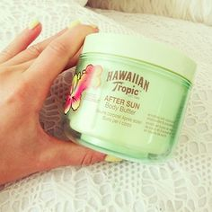 Hawaiian Tropic After Sun Body Butter. Great for setting tans and helping burns!