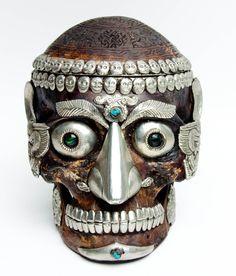Tibetan Ritual Human Skull