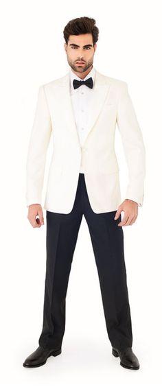 Custom made white dinner jacket tuxedo