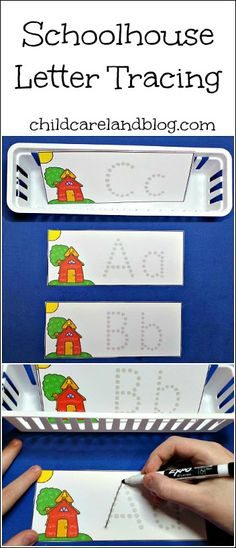 Schoolhouse Letter Tracing