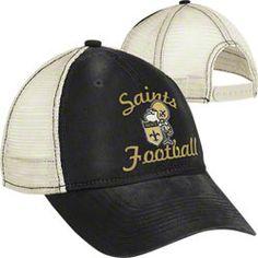 New Orleans Saints Women's Throwback Hat: Vintage Classic Slouch Mesh Back Adjustable Hat $17.99 http://www.fansedge.com/New-Orleans-Saints-Womens-Throwback-Hat-Vintage-Classic-Slouch-Mesh-Back-Adjustable-Hat-_-1377963716_PD.html?social=pinterest_pfid32-39022