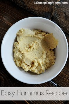 Easy Hummus Recipe - only 5 ingredients!